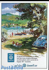VW Beetle, near the lake
