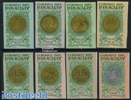 Medals & coins 8v imperforated