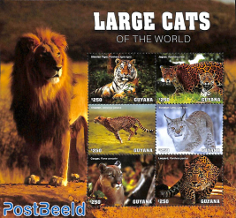 Large cats of the world 6v m/s