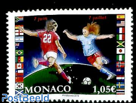 Woman world cup football 1v