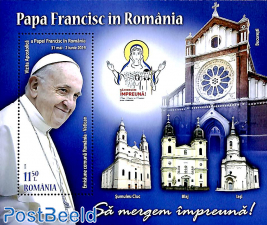 Pope's visit, joint issue Vatican s/s
