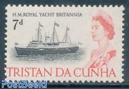 7p, Britannia, Stamp out of set