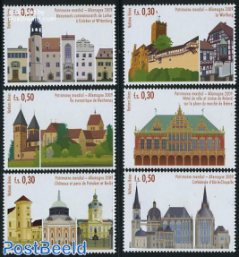 World heritage Germany 6v (from booklet)