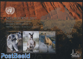 Melbourne Stamp Show s/s, Joint Issue UN Vienna, New York