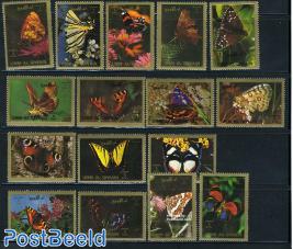 Moths & butterflies 16v