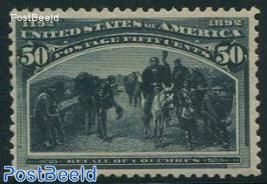 50c, Recall of Columbus, very light hinged