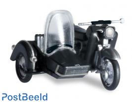 MZ 250 with sidecar, Black