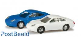 Porsche 911 (blue/white)