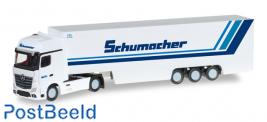 """Mercedes-Benz Actros Gigaspace box semitrailer """"Schumacher Spedition"""""""