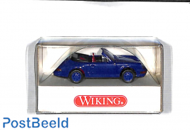 Porsche cabriolet, blue