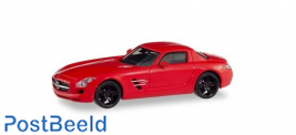 Mercedes-Benz SLS AMG - Red with Black Rims