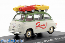 Fiat 600 Multipla-Studer 1959, with toy cars on roof