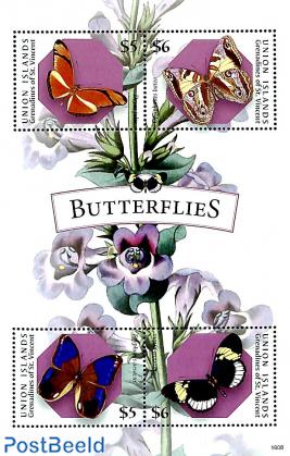 Union Island, butterflies 4v m/s