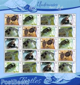 Turtles minisheet