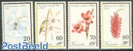 Orchids, overprints 4v