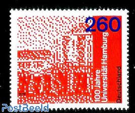 100 years university Hamburg 1v