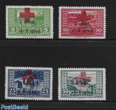 Red Cross overprints 4v