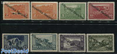 Definitives, overprints 8v