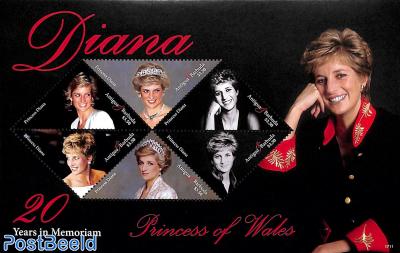 Princess Diana, 20 Years in Memoriam 6v m/s