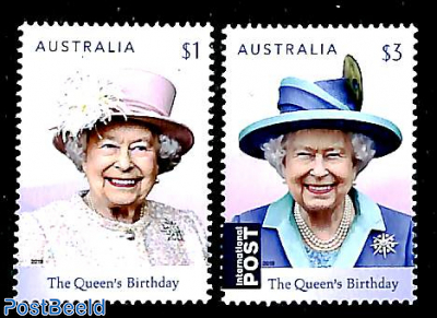 Queen Elizabeth 93rd birthday 2v