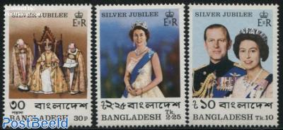 Royal silver jubilee 3v