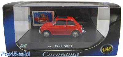 Cararama Fiat 500L 1:43 + Stamp from Italy