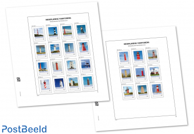 Luxe sheets Netherlands Press. Stamps Lighthouses 2014