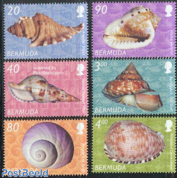 Definitives, shells 6v