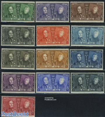 75 years stamps 13v