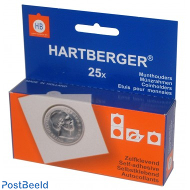 25 coin holders 35mm self adhesive