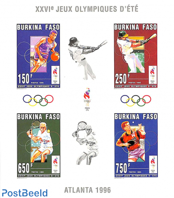 Olympic games 4v m/s, imperforated