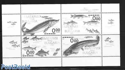fish in Danube m/s blackprint, not valid for Postage