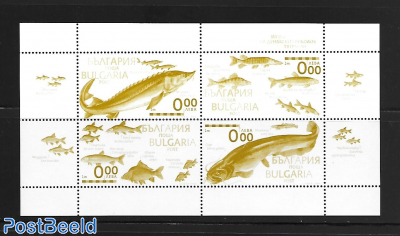 fish in Danube m/s yellow print, not valid for Postage