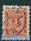 Postage due 5St, Orange, Stamp out of set