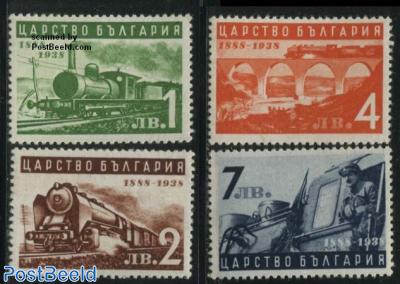 Railways 50th anniversary 4v