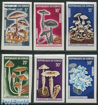 Mushrooms 6v, imperforated