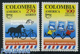 UPAEP, postal service 2v