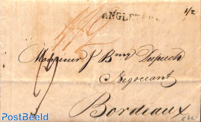 Letter from Havanna to Bordeaux, via Great BRitain