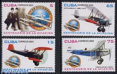 Aviation centenary 4v