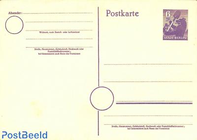 Postcard 6pf