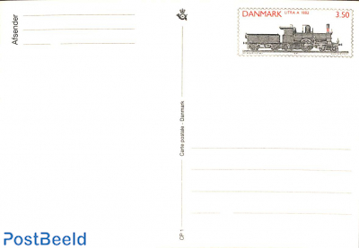 Postcard, 3.50Kr, steam locomotive