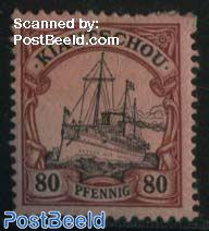 Kiautschou, 80pf, Stamp out of set