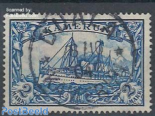 Kamerun, 2M, used, signed