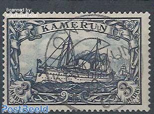 Kamerun, 3M, used, signed Botke