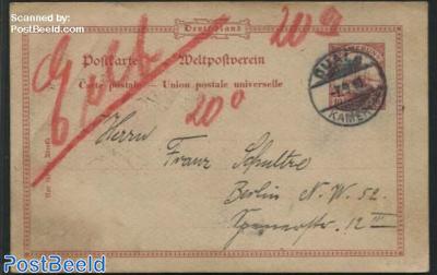 Postcard 10pf, to Berlin