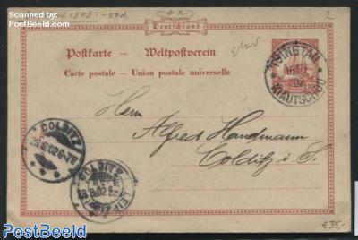 Kiautschou, Postcard 10pf, sent to Colditz