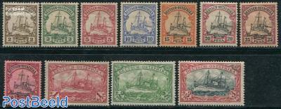 Ostafrika, definitives, ships 11v