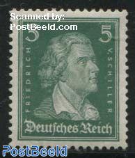 5pf, v. Schiller, Stamp out of set