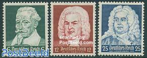 Schuetz, Bach, Haendel 3v