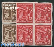 Hitlerputsch 2v, Blocks of 4 [+]